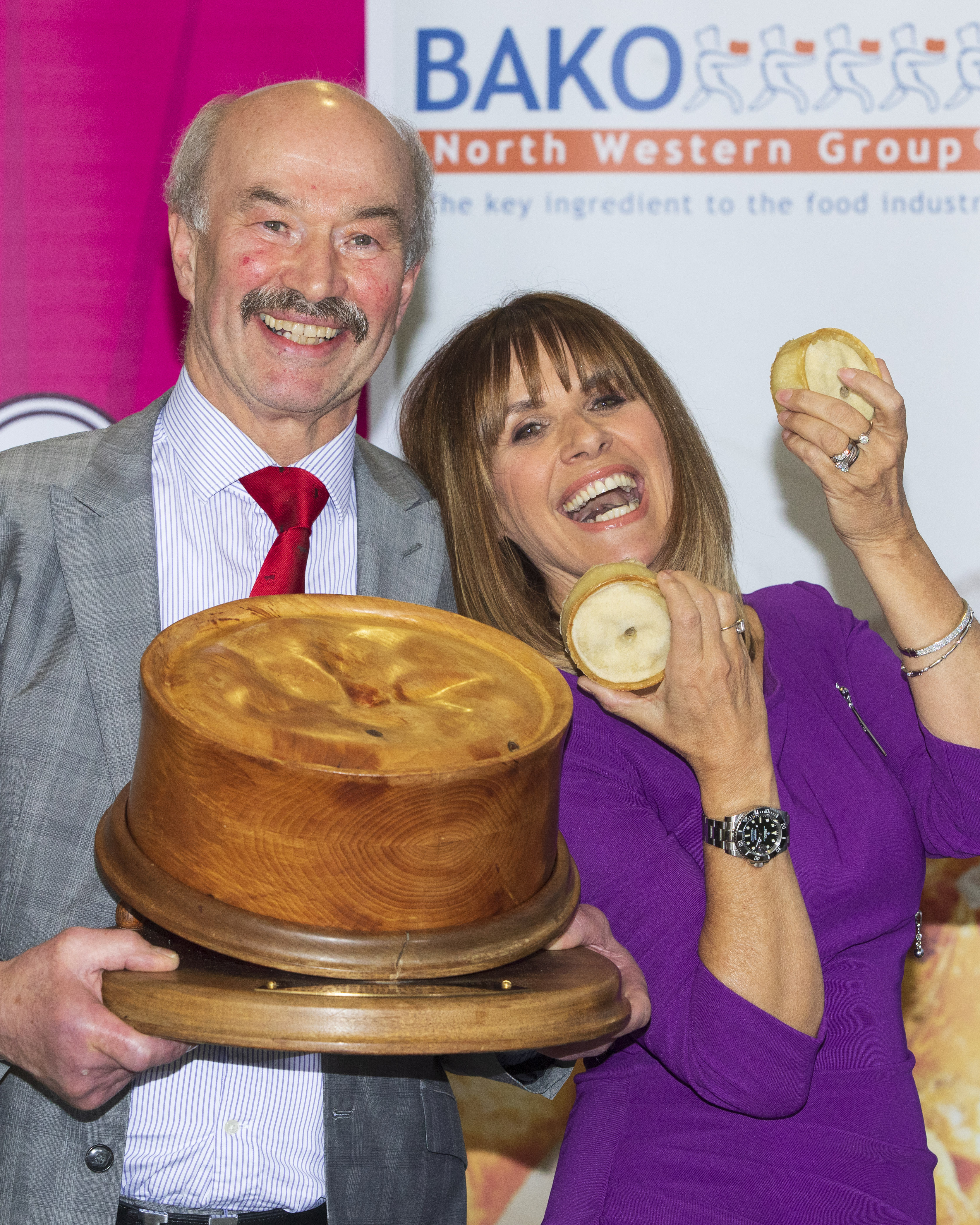 ***FREE TO USE*** Alan Pirie of James Pirie & Son, Blairgowrie Winner of the 21st World Championship Scotch Pie Awards 2020 hosted by Carol Smillie. Jan 14 2020